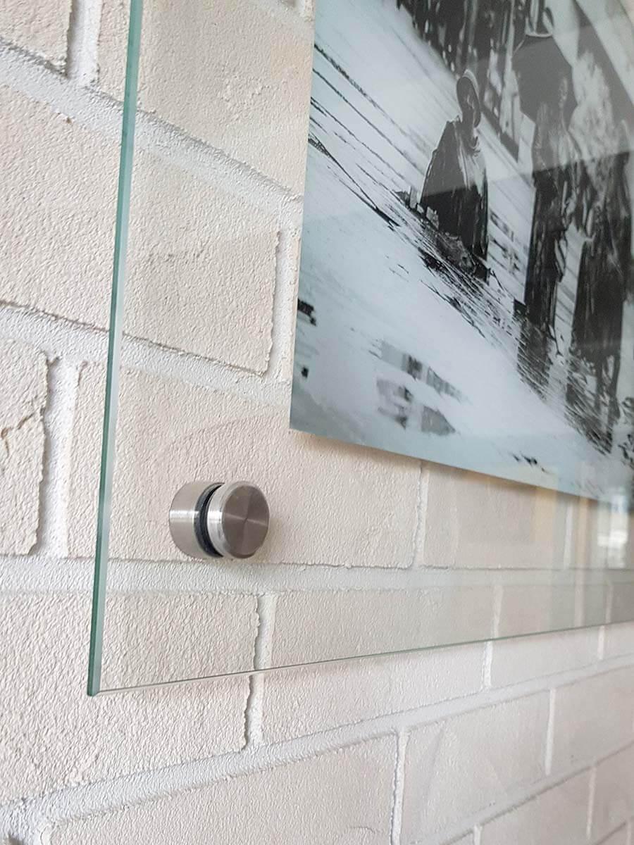 tablica szklana ze zdjęciem
